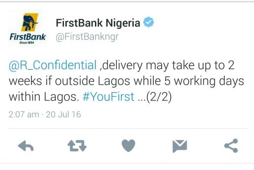 FirstBank Twitter Response