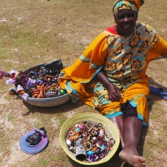 Jewelry Seller by the Pink Lake