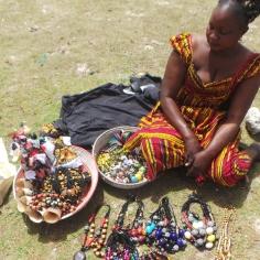 Jewelry Seller by the Pink Lake Dakar