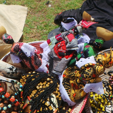 Local Dolls sold by the Pink Lake in Dakar