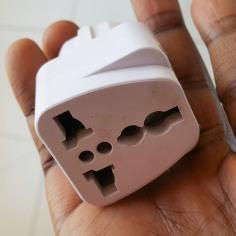 Round hole electricity adaptor in Dakar Senegal