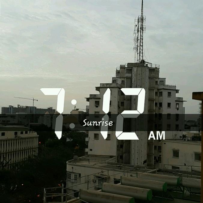 Sunrise in Dakar