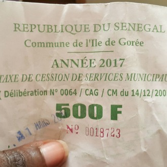 Tax on Goree Island