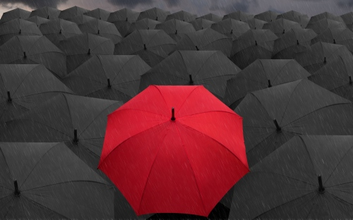 Red-And-Black-Umbrellas-Rain-WallpapersByte-com-3840x2400