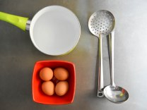 Eggs, Spoons, Pot of Water
