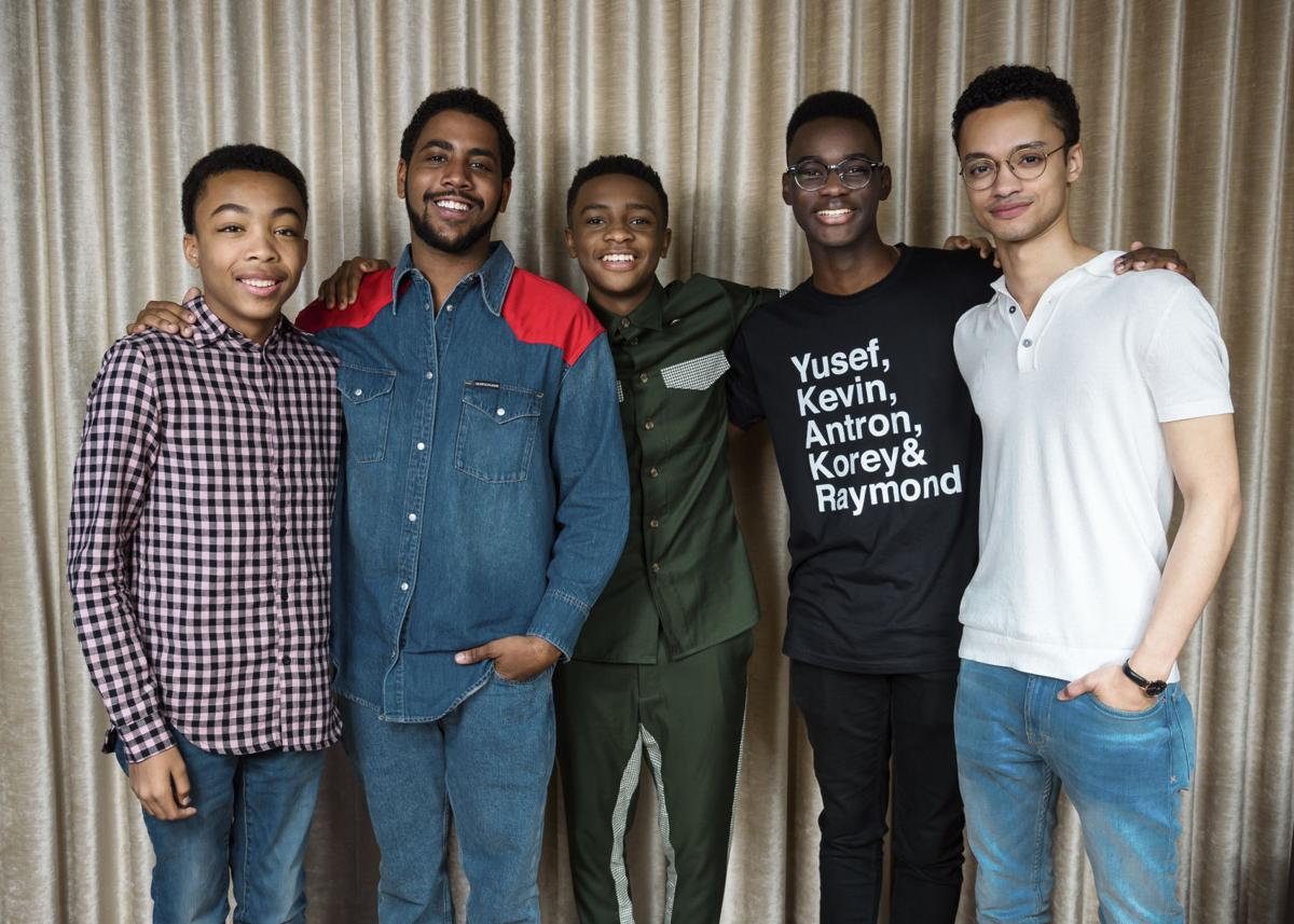 Asante Blackk, Caleel Harris, Ethan Herisse, Jharrel Jerome and Marquis Rodriguez