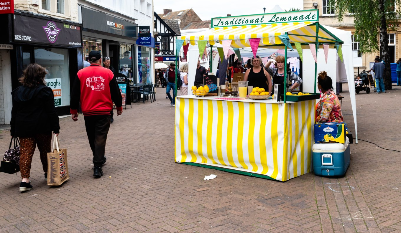 Traditional Lemonade Stand in Trowbridge Weavers Market