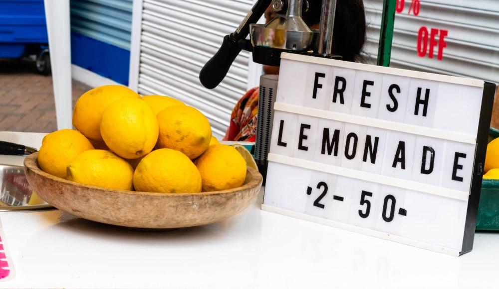 Fresh Lemonade at Trowbridge Weavers Market